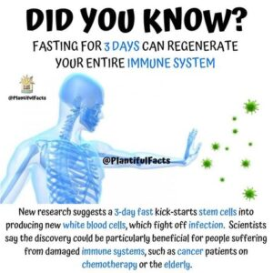 Fasting 3 days to regenerate new immune system